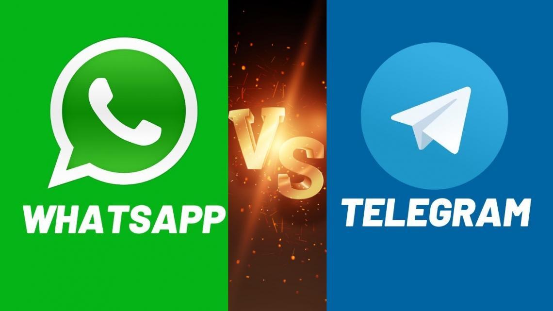 واتس اپ یا تلگرام